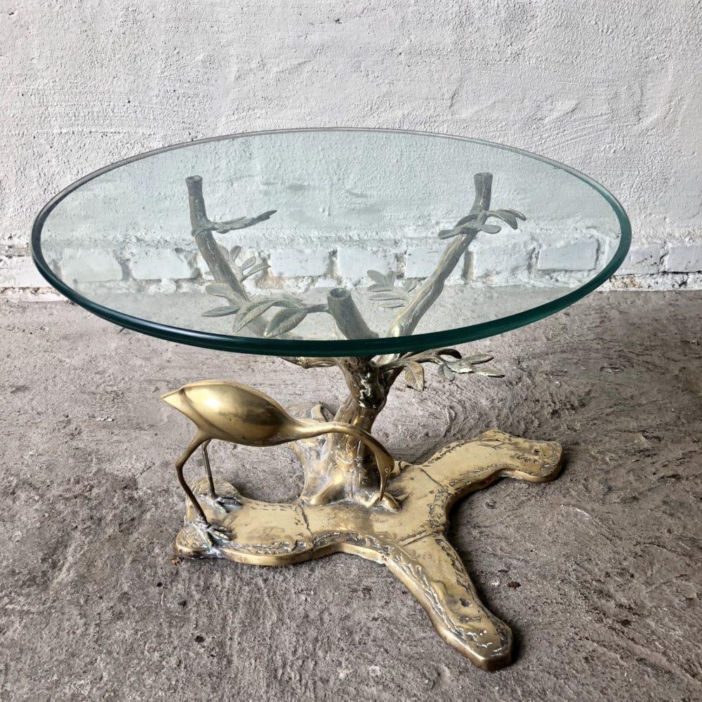 Brass Tropical Side Table Art N Deco