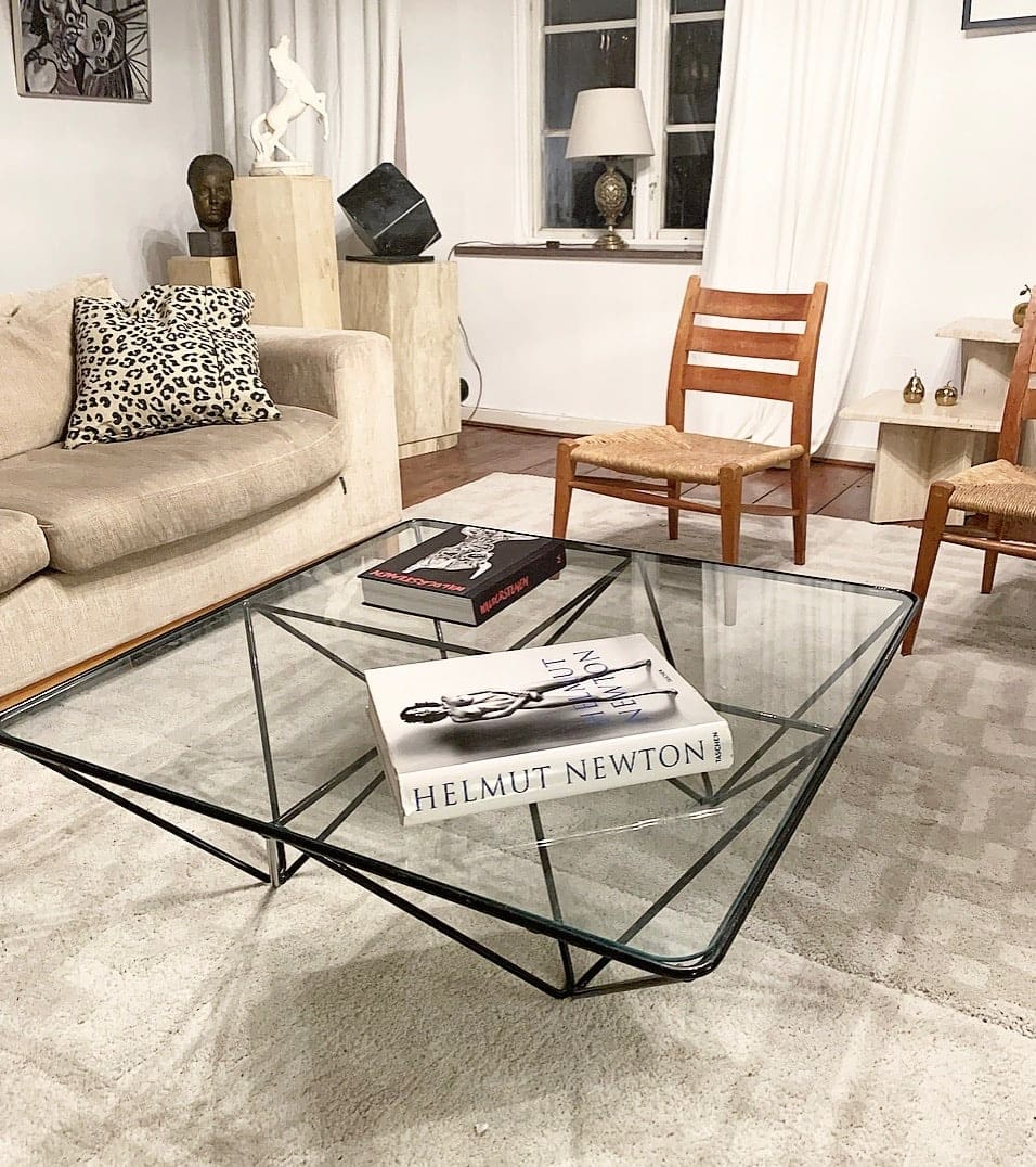 Gl And Steel Coffee Table In Pavlo Piva Style